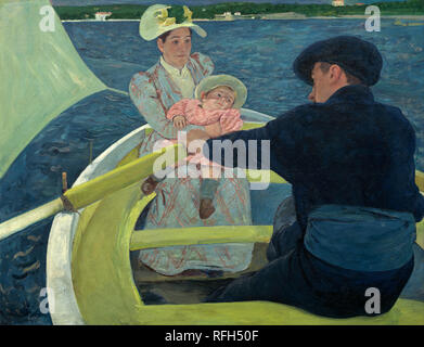 The Boating Party. Date/Period: 1893 - 1894. Painting. Oil on canvas. Height: 900 mm (35.43 in); Width: 1,173 mm (46.18 in). Author: Mary Cassatt. CASSATT, MARY. CASSAT, MARY. - Stock Photo