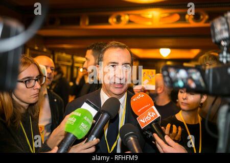 Foto Stefano De Grandis - LaPresse 26-01-2019-Milano ITA - CRO  Seconda giornata del congresso di +Europa  nella foto: Giuseppe Sala