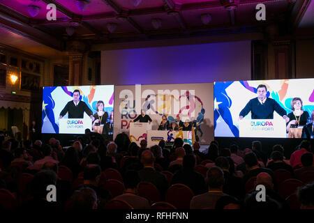 Foto Stefano De Grandis - LaPresse 26-01-2019-Milano ITA - CRO  Seconda giornata del congresso di +Europa  nella foto:  Carlo Calenda