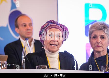 Foto Stefano De Grandis - LaPresse 26-01-2019-Milano ITA - CRO  Seconda giornata del congresso di +Europa  nella foto: Emma Bonino