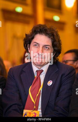 Foto Stefano De Grandis - LaPresse 26-01-2019-Milano ITA - CRO  Seconda giornata del congresso di +Europa  nella foto: Marco Cappato
