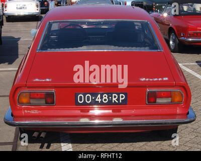 Audi 100 Coupe S, build in 1977, Dutch licence registration 00-48-RP, at IJmuiden, The Netherlands, pic1. - Stock Photo
