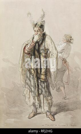 Paul Gavarni (French, 1804-1866) Actors.jpg - RFJ2HG - Stock Photo