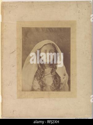Ceylonese Woman. Artist: Julia Margaret Cameron (British (born India), Calcutta 1815-1879 Kalutara, Ceylon). Date: 1875-79. Museum: Metropolitan Museum of Art, New York, USA. - Stock Photo