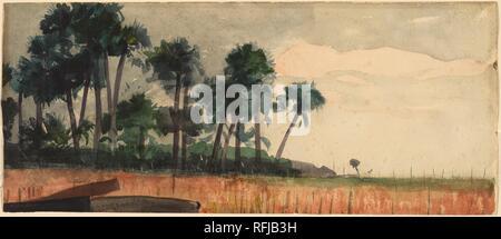 Winslow Homer - Palm Trees, Red.jpg - RFJB3H - Stock Photo