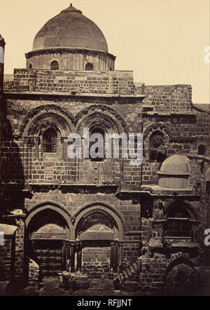 [The Church of the Holy Sepulchre]. Date/Period: 1857. Print. Albumen silver. Height: 314 mm (12.36 in); Width: 227 mm (8.93 in). Author: James Robertson. - Stock Photo