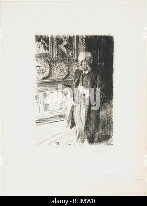 Henry Marquand. Artist: Anders Zorn (Swedish, Mora 1860-1920 Mora). Dimensions: Plate: 10 7/8 × 7 13/16 in. (27.6 × 19.8 cm)  Sheet: 18 11/16 × 13 7/8 in. (47.5 × 35.3 cm). Sitter: Henry G. Marquand. Date: 1893. Museum: Metropolitan Museum of Art, New York, USA. - Stock Photo