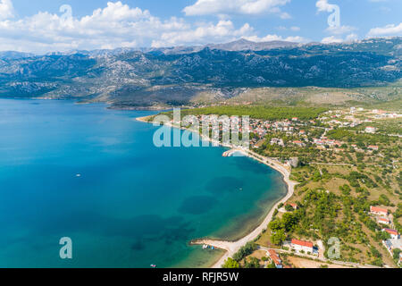 Rovanjska, under the mountain Velebit - Stock Photo