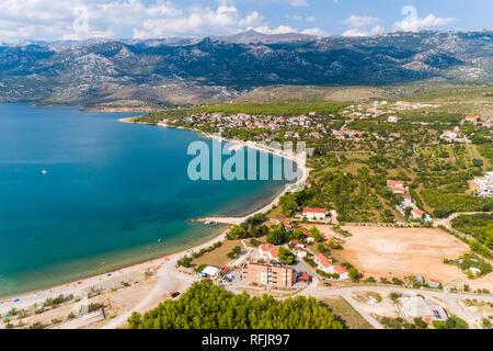 Rovanjska, under the mountain Velebit - Stock Photo
