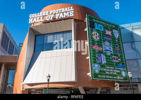 The College Football Hall of Fame in downtown Atlanta, Georgia. (USA) - Stock Photo