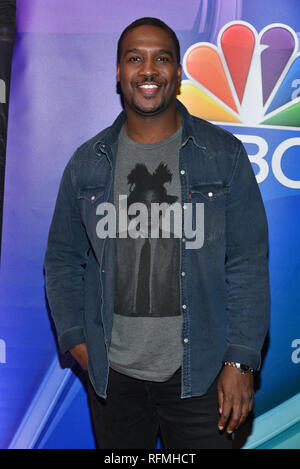 Jerod Haynes attends NBC's New York Mid Season Press Junket at Four Seasons Hotel New York on January 24, 2019 in New York City. - Stock Photo