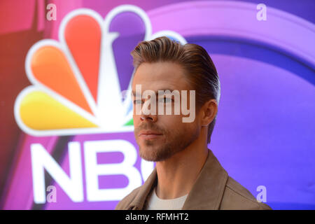 Derek Hough attends NBC's New York Mid Season Press Junket at Four Seasons Hotel New York on January 24, 2019 in New York City. - Stock Photo