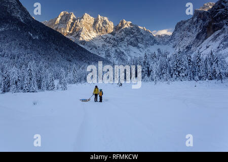 Winter outdoors can be fairytale-maker for children or even adults - Stock Photo