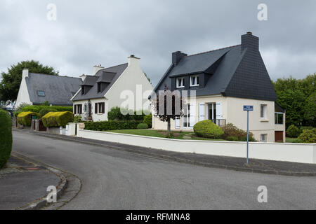 Brest, France, 31 May 2018. Rural storey house exteriour, summer outdoors - Stock Photo