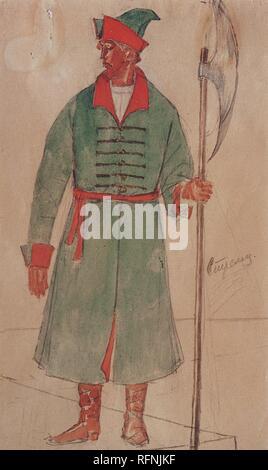 Costume Design for Boris Godunov tragedy Kuzma Petrov-Vodkin - 1923 5.jpg - RFNJKF - Stock Photo