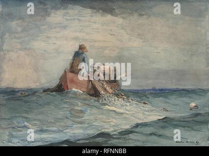 Hauling in the Nets by Winslow Homer.jpg - RFNNBB - Stock Photo