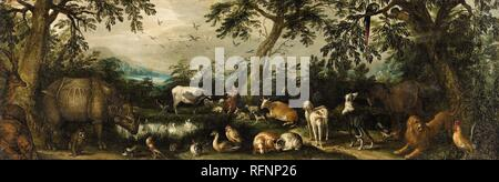 Jacob Savery II, attributed to, Orpheus among the Animals.jpg - RFNP26 - Stock Photo