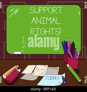 writing note showing support animal rights  business photo showcasing  protection and proper treatment of all