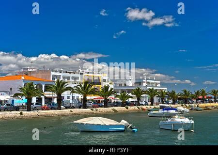 Waterfront, Santa Luzia, Algarve, Portugal - Stock Photo
