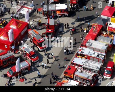 DEU, Federal Republic of Germany, Hannover : Hannover fairgrounds. Interschutz, world biggest exhibiton for fire services, - Stock Photo