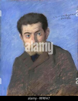 Portrait of Joris-Karl Huysmans (1848-1907). Museum: Musée de l'Histoire de France, Château de Versailles. Author: FORAIN, JEAN LOUIS. - Stock Photo