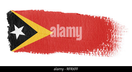Brushstroke Flag East Timor - Stock Photo