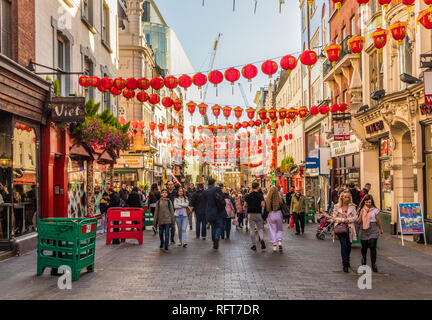 Wardour Street in Chinatown in Soho, London, England, United Kingdom, Europe - Stock Photo