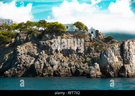 luxury house on the island in Italy - Stock Photo