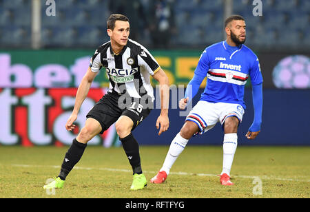 "Genova, Italy. 26th January, 2019.  (Italy) Sport Soccer Sampdoria vs Udinese Italian Football Championship League A TIM 2018/2019 - ""Luigi Ferraris"" Stadium in the pic: lasagna kevin Credit: LaPresse/Alamy Live News - Stock Photo"
