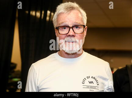 Inglewood, USA. 26th Jan, 2019. CALIFORNIA, UNITED STATES - JANUARY 26, 2019: American boxing coach Freddie Roach after the Bellator Heavyweight World Grand Prix final bout between MMA fighters Fedor Emelianenko of Russia and Ryan Bader of the US at the Forum in Inglewood, California; Bader knocked out Emelianenko 35 seconds into the bout. TASS Credit: ITAR-TASS News Agency/Alamy Live News - Stock Photo