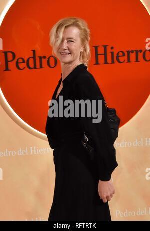 26/01/2019.- Photocall antes del desfile de Pedro del Hierro Foto Ana Duato - Stock Photo