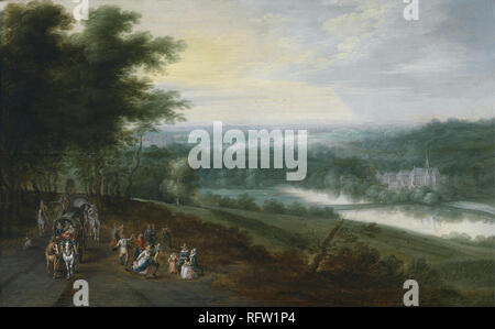 Jan Brueghel II (16011678) and Lucas van Uden (15951672).jpg - RFW1P4 - Stock Photo
