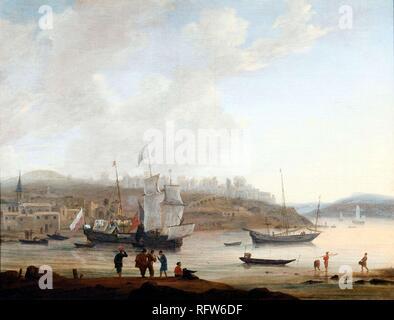 Reinier Nooms called Zeeman (Amsterdam 1623-24 - 1664) ,Southern Harbour.jpg - RFW6DF  - Stock Photo