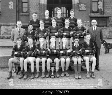 King George High School Rugby Team Junior Champions 1933.jpg - RFWH7Y 1RFWH7Y - Stock Photo