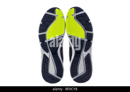 Runing sport shoes isolated on white background. - Stock Photo