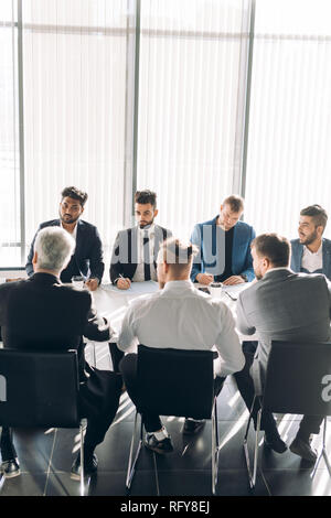 Business conference at modern office, seminar. - Stock Photo