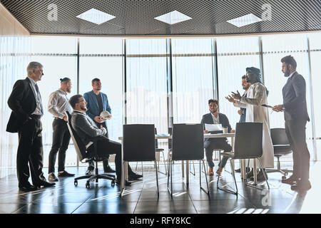 Business competition, two companies disagreement and conflict, - Stock Photo