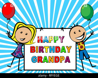 Happy Birthday Grandpa Message As Surprise Greeting For Grandad Best Wishes To Grandfather