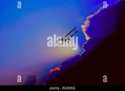 flying between clouds 2.jpg - RG00KG  - Stock Photo