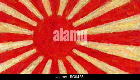 Japanese naval ensign (1889-1945, after 1954) 6.jpg - RG04R8 - Stock Photo