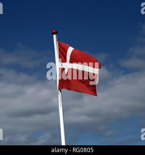 Denmark, Danish flag - Stock Photo