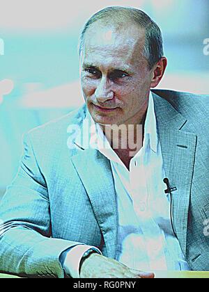 Poster of Russian President Vladimir Putin.jpg - RG0PPG - Stock Photo