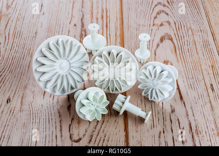 Sugar craft decorating tools. Frosting plunger cutters, - Stock Photo