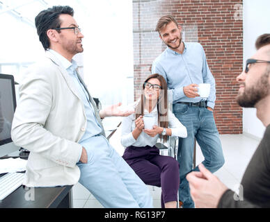 business team is considering solving business problems - Stock Photo