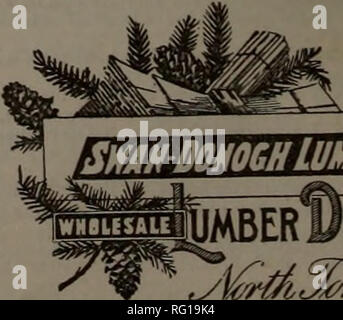 """. Canadian forest industries 1899-1901. Lumbering; Forests and forestry; Forest products; Wood-pulp industry; Wood-using industries. SWAK DOHOGH LUMBER CO. 3: JALERS. Cable Address, """"Swan Donogh—Tonawanda. Lumberman s Code.. Please note that these images are extracted from scanned page images that may have been digitally enhanced for readability - coloration and appearance of these illustrations may not perfectly resemble the original work.. Don Mills, Ont. : Southam Business Publications - Stock Photo"""