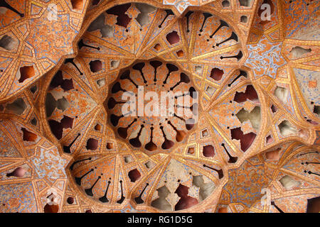 Music Hall in Ali Qapu Palace, Isfahan, Iran - Stock Photo