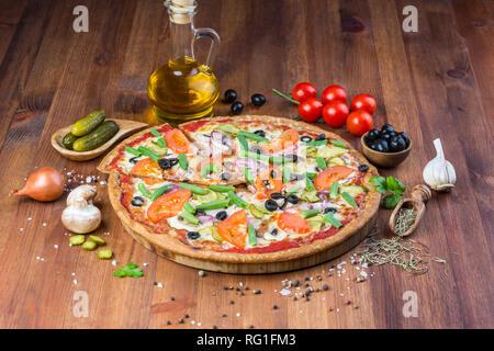 Delicious homemade pizza - Stock Photo