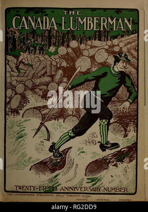 . Canadian forest industries 1905-1906. Lumbering; Forests and forestry; Forest products; Wood-pulp industry; Wood-using industries. . Please note that these images are extracted from scanned page images that may have been digitally enhanced for readability - coloration and appearance of these illustrations may not perfectly resemble the original work.. Don Mills, Ont. : Southam Business Publications - Stock Photo