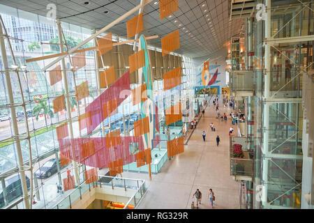 HONG KONG - CIRCA SEPTEMBER, 2016: inside Hong Kong Airport Express Station. - Stock Photo