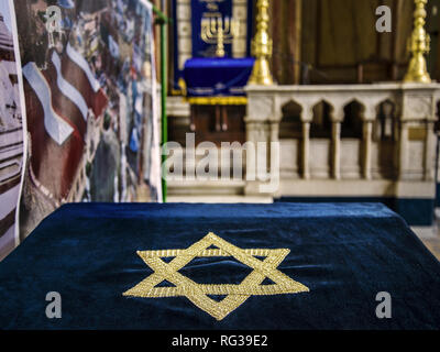 Star of David inside the Synagogue in Sofia,Bulgaria - Stock Photo